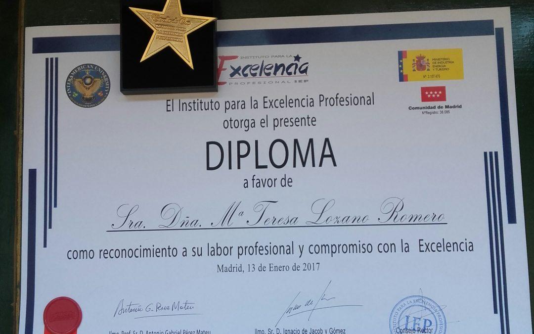 Estrella de Oro de Excelencia Profesional